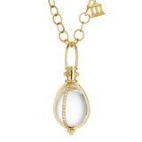 Rock Crystal & Diamond Amulet Pendant