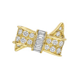 18k Yellow Gold & Diamond Bow Ring