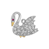 Platinum & Diamond Swan Charm