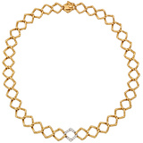 Paloma Picasso 18k Pink Gold & Diamond Necklace
