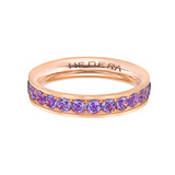 Wide Pink Titanium & Amethyst Band Ring