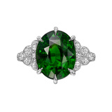 5.59 Carat Tsavorite Garnet & Diamond Ring