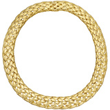 18k Yellow Gold Woven-Link Collar Necklace