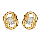 "18k Yellow Gold & Diamond ""Figure Eight"" Earrings"