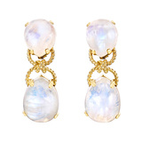 "Moonstone ""Pebble"" Drop Earrings"