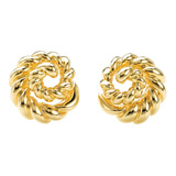 18k Yellow Gold Spiral Earclips