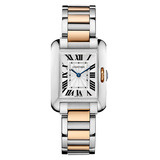 Tank Anglaise Small Steel & Rose Gold (W5310036)