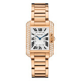Tank Anglaise Small Rose Gold & Diamond (WT100002)