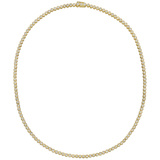 Bezel-Set Round Brilliant Diamond Line Necklace (~4.9 ct tw)