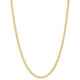 "18k Yellow Gold Wheat-Curb Link Necklace (16"")"