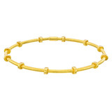 "24k Gold ""Cleopatra"" Stack Bangle"