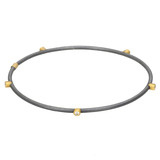 """Jane"" Oxidized Gilver, 24k Gold & Diamond Bangle"