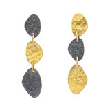 """Melissa"" 24k Gold & Gilver Drop Earrings"