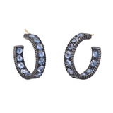 "Small Sapphire ""Lilah"" Hoop Earrings"