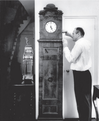 Bert Betteridge with clock