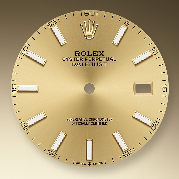 Champagne-color dial